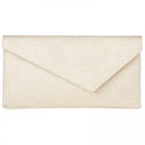 L.K. Bennett Leonie Asymmetric Clutch Bag, Soft Gold