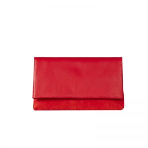 Karen Millen Leather And Suede Brompton Clutch