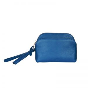 Jaeger Leather Tassel Clutch Bag, Blue