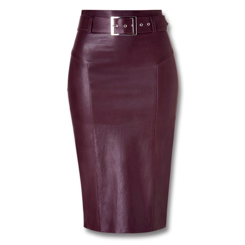 Full Grain Leather Skirts For Women