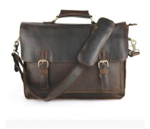 full grain genuine leather satchel